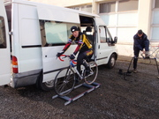 Roubaix World Cup, warning up for the pre-ride