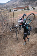 Attacking the hill in Lyons, CO