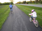 Kim and Avery heading back from a long ride.