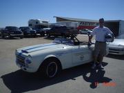 Bob Bondurant's vintage Datsun School car at Willow Springs