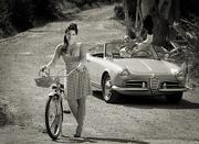 image 1 – vintage Alfa Romeo Giulietta in B&W