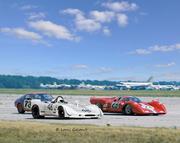 Steve McQueen & Tony Adamowicz at Sebring 1970