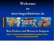Regional Moving with Packers and Movers Gurgaon