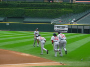 """The """"boys"""" stretching in Chicago 2007"""
