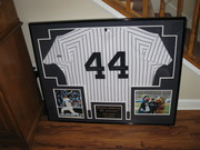 Framed jersey for Tripe A Yankees