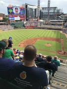 View from our seats at SunTrust Park
