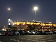 Moon over Angels Stadium 4/28/2018