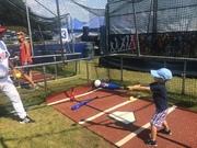 Taking swings at Play Ball