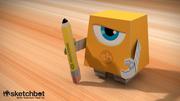 """Bertie """"Sketchbot"""" Paper Toy"""