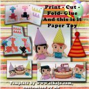My Custom Paper Toys