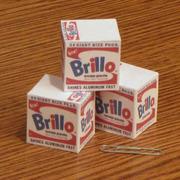 Mini Warhol Brillo Box Paper Toys