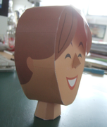 head with fringe
