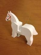 Paper LEGO Horse