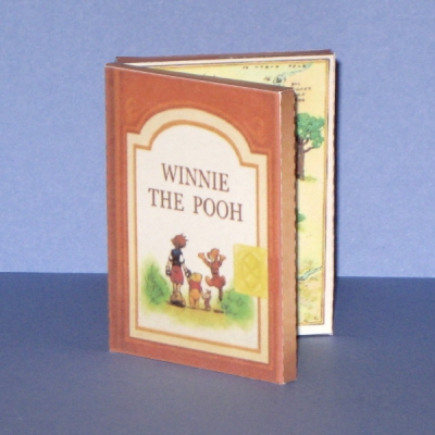 Kingdom Hearts Pooh Book Paper Toy