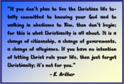 Great Quote on the Christian Life