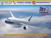 Book Sky Air Ambulance Services in Siliguri with Authorized Doctor