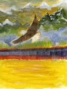 eagle over tulip lake_001