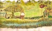 apple tree and farm gate