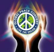 """Global Peace Concert Inc """"world peace in our hands"""" logo created By Amy Haba"""