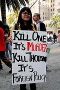 Anti-war rally, Los Angeles, CA 3/20/2010