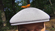 Question Mark Butterfly on my hat 7-10-13 2