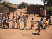 Children in Malawi celebrate a new well