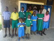 Orphans in Kenya with new school uniforms