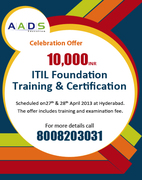 ITIL Foundation and Training certification in Hyderabad at AADS Education