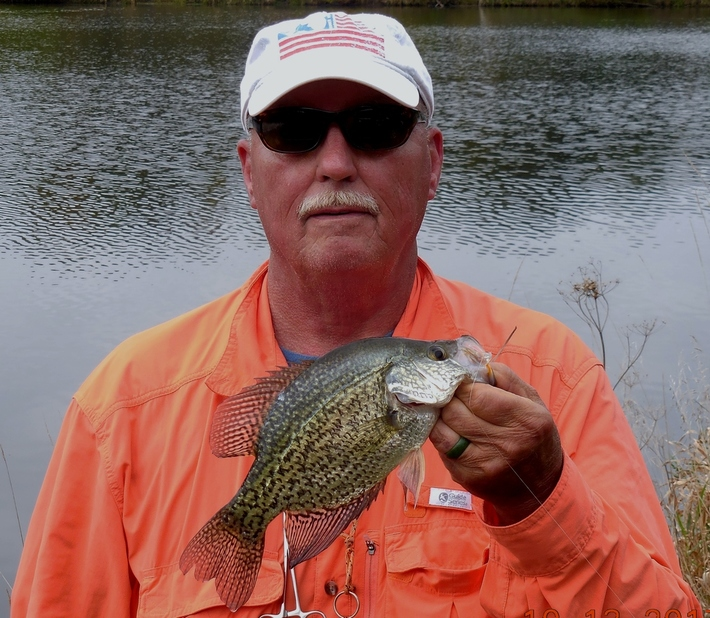 10/6/17 A nice crappie from the pond....