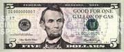 new 5 dollar