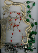 Antique Beaded Necklaces (4)