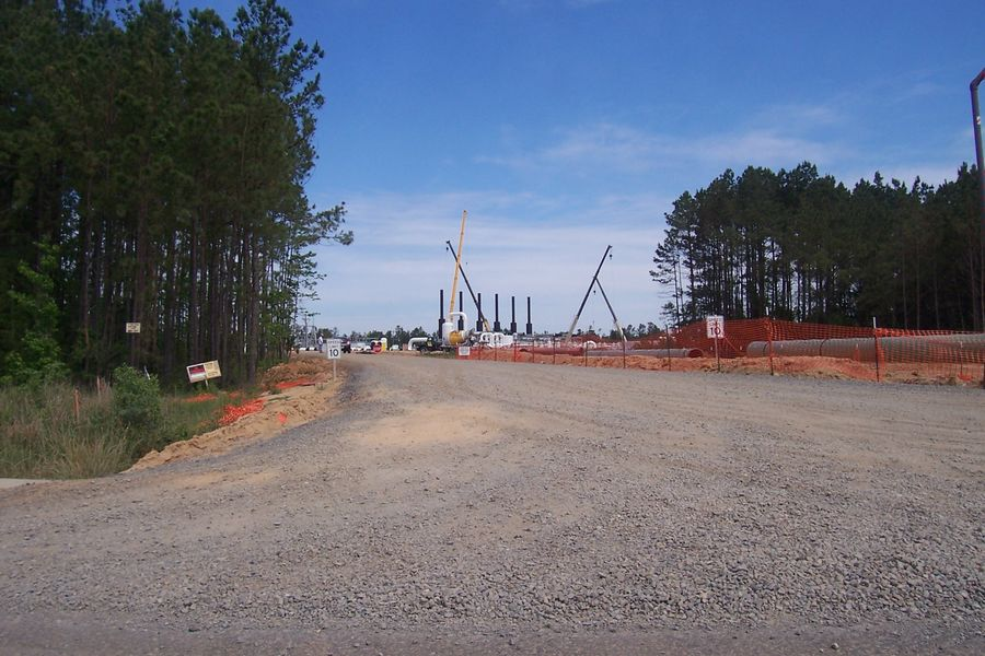Natchitoches Parish, LA  new contruction on compressor station on May 5, 2011