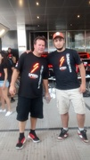With Robby Gordon in the Team SPEED compound at the Hilton.