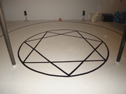 Painted Inner Circle and Thelemic Star