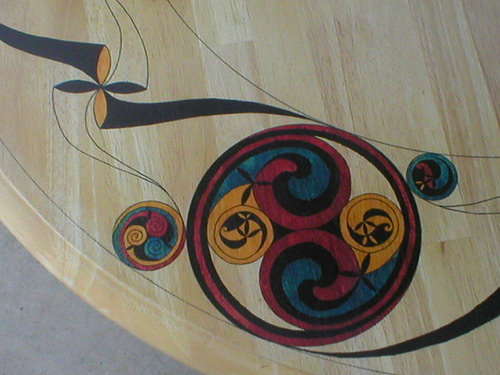 Detail of a Celtic art table
