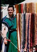 Pennsic 1993:  Ana w/ Belt Rack