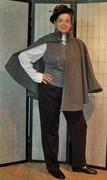 Gray Wool Shoulder Cape