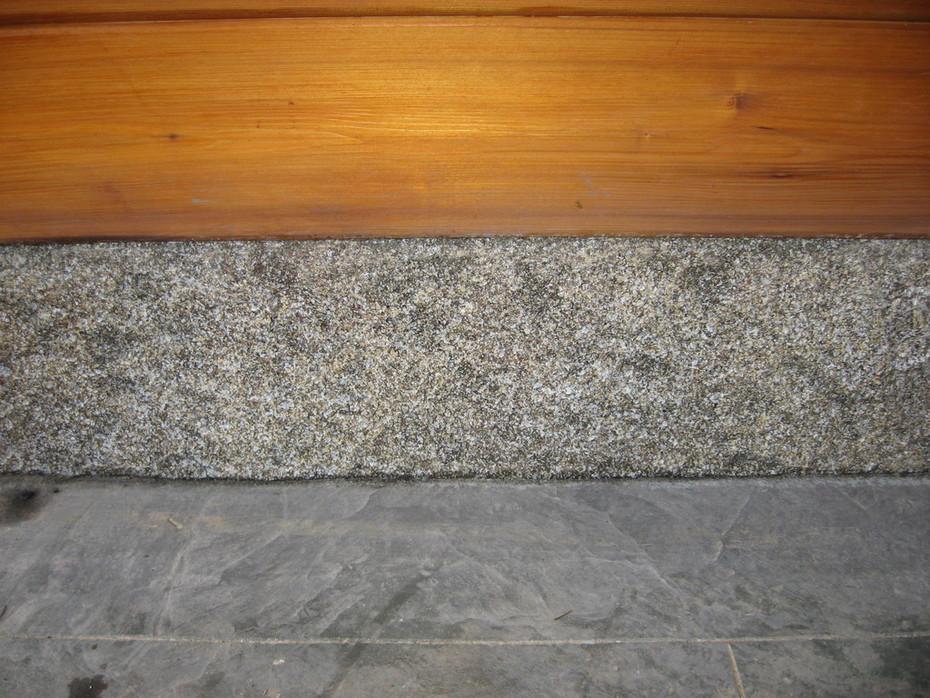 sculpted, stamped granite look concrete