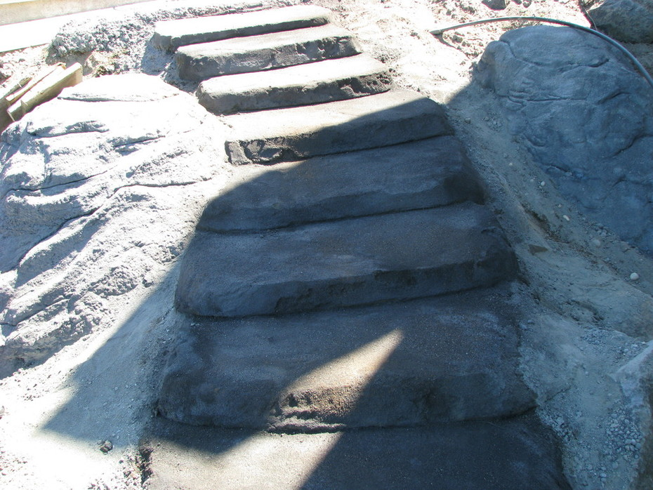 Hand built steps in process