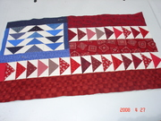 americana flag using flying geese