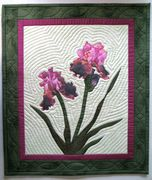 Iris Quilted Hanging