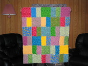 Flannel Ragtime baby quilt