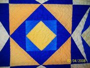 Close up hand quilting