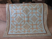 Chained nine patch quilt