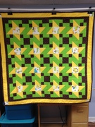 A matching but not matching quilt for one of Cindy's twins.