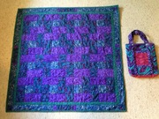Izzy's quilt and Kira's bag