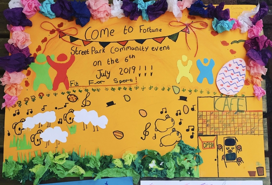 The winning poster for our Fun Day in the park