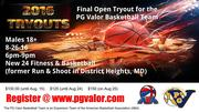 PG Valor Basketball Team Final Tryout of 2016