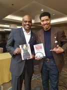 Omar Tyree and I Promoting Each Others Books