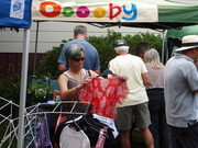 Wendy at the Ooooby Stall